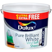 Dulux  Vinyl Soft Sheen Pure Brilliant White Paint - 10 Litre