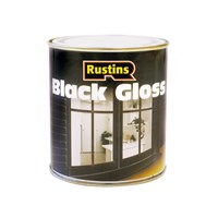 Rustins  Black Gloss Paint - 500ml