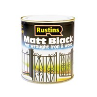 Rustins  Quick Dry Black Paint Matt - 1litre