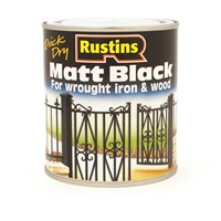 Rustins  Quick Dry Black Paint Matt - 2.5 litre
