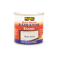 Rustins  Quick Dry White Radiator Paint Gloss - 500ml