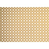 Applications  Screening Panel Four Leaf Clover & Dot Pattern - Brass Finish