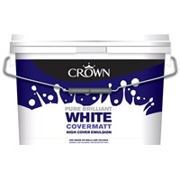 Crown  Covermatt Brilliant White Paint - 10 Litre