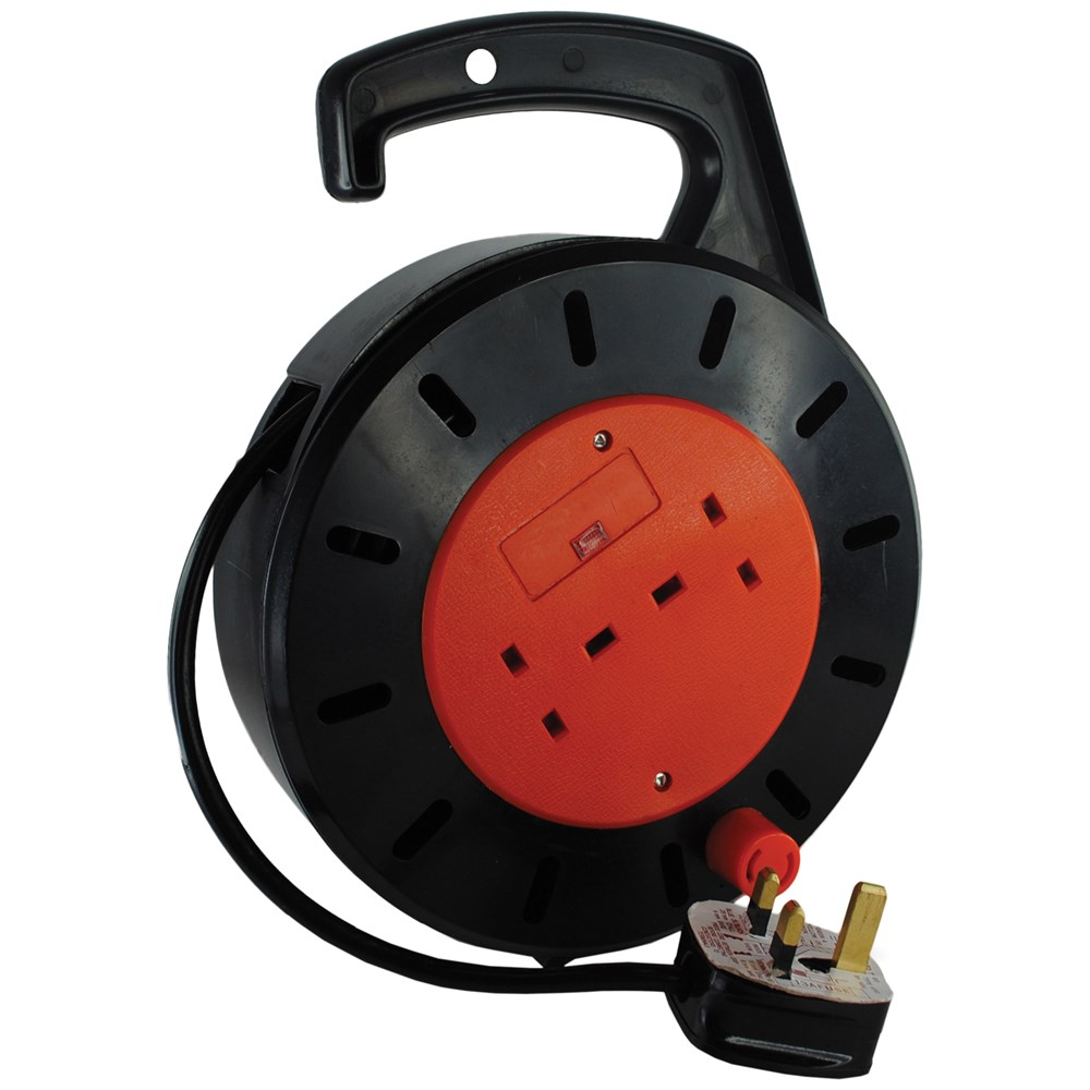Safeline Cable Reel 10 Metre Extension Reels Topline Dohertys Retractable Cord Electrical