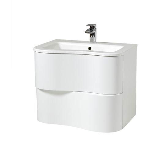 Bella 65cm Wall Hung Vanity Unit & Basin White