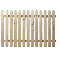 Independent Fencing  Premier Round Top Picket Fence Panel - 1200 x 1800mm