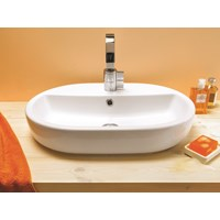 Caspia Oval Countertop Washbasin 1 Taphole