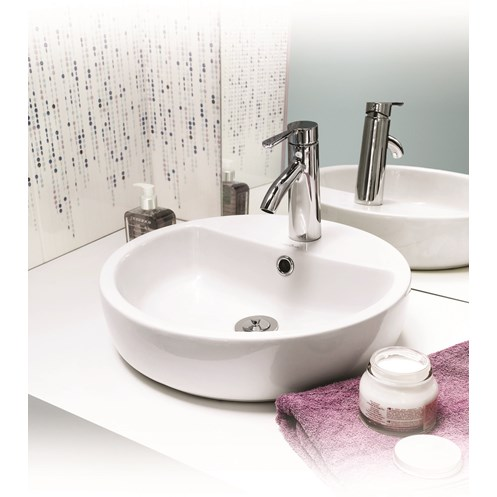 Caspia Ring Countertop Washbasin 1 Taphole